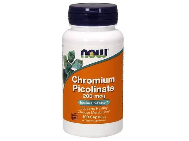 бу NOW_Chromium Picolinate 200 мкг - 100 веган кап  в Украине