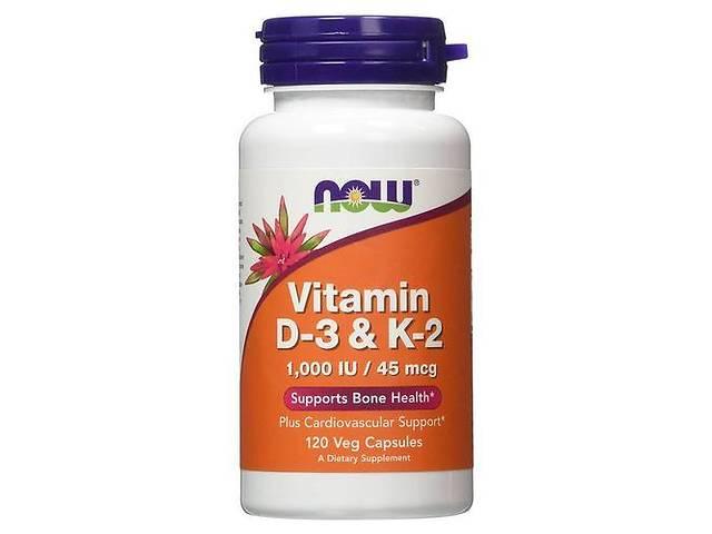 NOW Vitamin D-3 & K-2 1,000 IU/45 мкг - 120 веган кап- объявление о продаже  в Дубно
