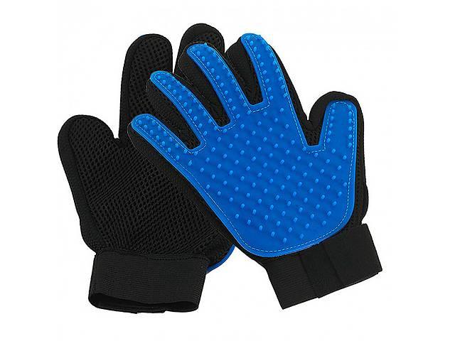 продам Перчатка для вычесывания шерсти животных True Touch  на правую руку Черный с синим (tdx0000427) бу в Киеве