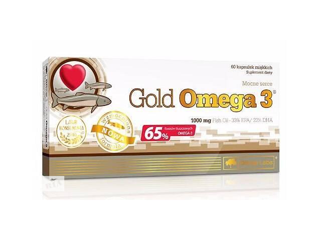 бу Рыбий жир Olimp Sport Nutrition Gold Omega 3 (65%), 60 капс (103192) в Полтаве
