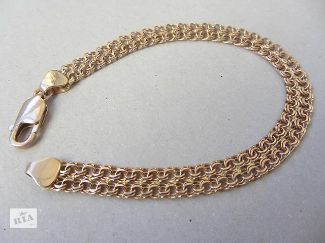 Золотой браслет Двойной Бисмарк! 900 грн. за грамм!- объявление о продаже  в Львове