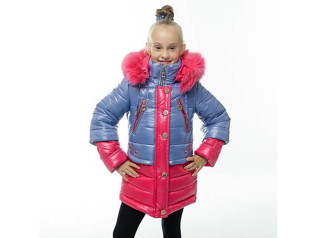 продам Зимняя куртка-пальто на девочек 7-11 лет, очень эффектное бу в Харькове
