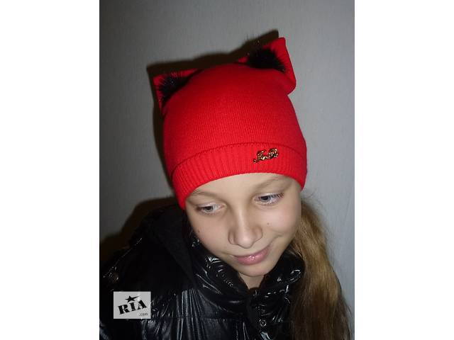 бу  Зимняя шапка с ушками, котошапка, cathat, разные цвета  в Харькове