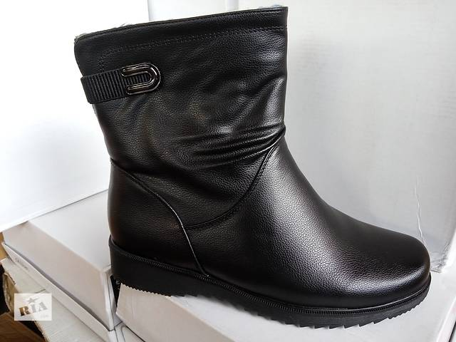 Зимові короткі чоботи на широку ногу. Батал- объявление о продаже в  Слов янську 7a6b4d289a4ee
