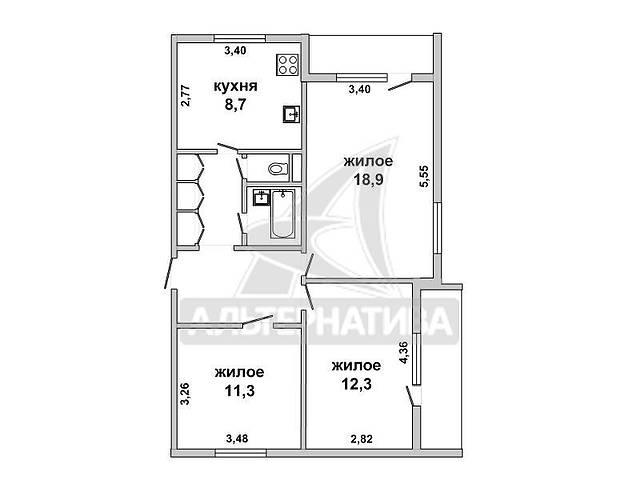 3-комнатная квартира, г.Высокое, Строителей ул., 1992 г.п., 3/5 панельного. w172500- объявление о продаже  в Бресте
