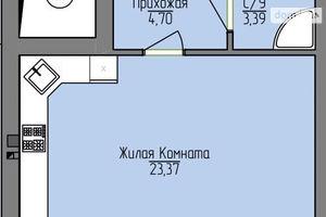 Продається 1-кімнатна квартира 35.25 кв. м у Дніпрі