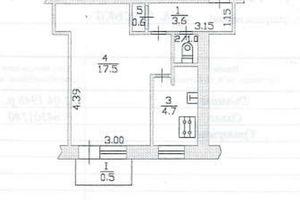 Продається 1-кімнатна квартира 27.9 кв. м у Тернополі