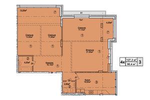 Продается 4-комнатная квартира 127.3 кв. м в Львове