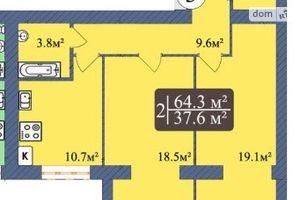 Продається 2-кімнатна квартира 64.2 кв. м у Чернігові