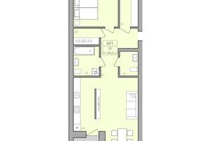 Продается 2-комнатная квартира 68.6 кв. м в Тернополе
