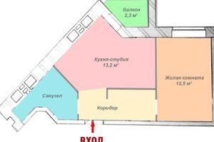 Продається 1-кімнатна квартира 39 кв. м у Харкові