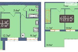 Продается 5-комнатная квартира 93.1 кв. м в Чернигове