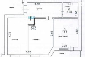 Продается 2-комнатная квартира 52 кв. м в Буче