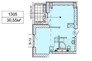Продается 1-комнатная квартира 30.55 кв. м в Днепре