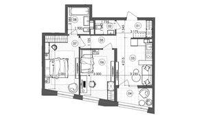 Продается 2-комнатная квартира 60.35 кв. м в Киеве