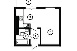 Продається 1-кімнатна квартира 30.5 кв. м у Львові