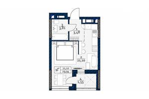 Продается 1-комнатная квартира 29.94 кв. м в Киеве