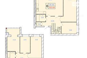 Продается 6-комнатная квартира 163.64 кв. м в Хмельницком