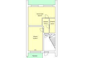 Продается 2-комнатная квартира 43.5 кв. м в Тернополе