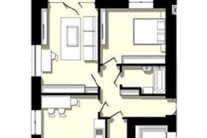 Продается 2-комнатная квартира 61.58 кв. м в Тернополе