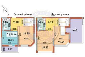 Продается 3-комнатная квартира 90.44 кв. м в Киеве