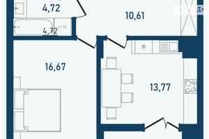 Продається 1-кімнатна квартира 50.56 кв. м у Чернівцях