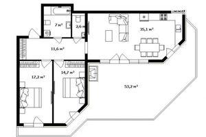 Продается 3-комнатная квартира 103.5 кв. м в Ужгороде