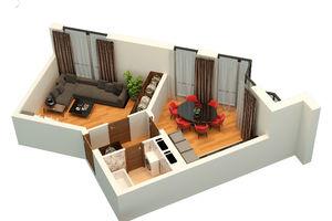 Продается 1-комнатная квартира 47.41 кв. м в Львове